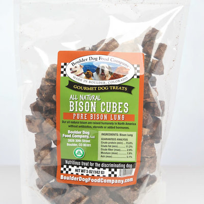 Boulder Dog Food Company Buffalo Bison Cubes 5oz