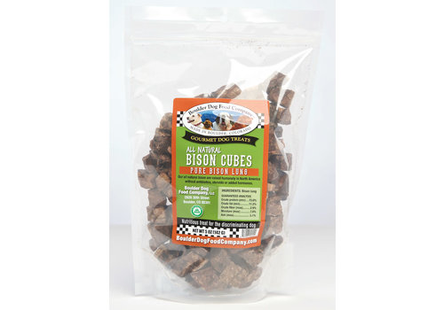 Boulder Dog Food Company Bison Cubes 5oz