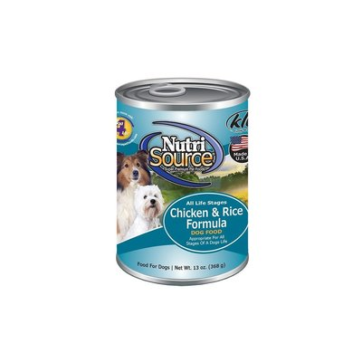 NutriSource NutriSource Chicken & Rice Formula for Dogs 13 oz