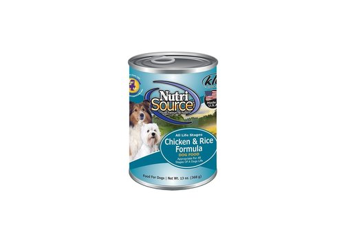 NutriSource NutriSource Chicken & Rice Formula for Dogs 13 oz