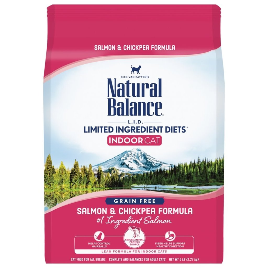 Natural Balance Natural Balance Limited Ingredient Diet Salmon/Chickpea Cat 5#