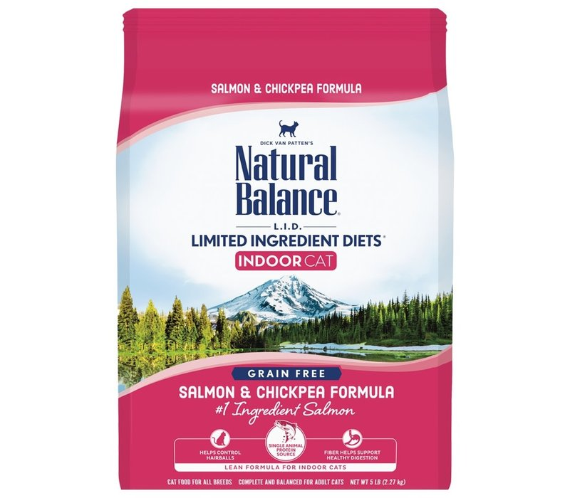 Natural Balance Limited Ingredient Diet Salmon/Chickpea Cat 5#