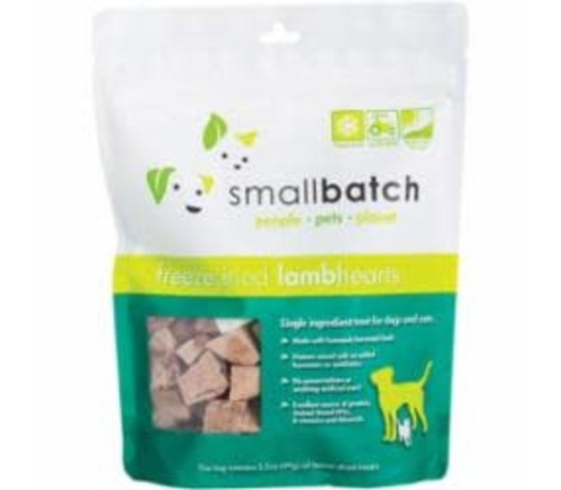 Small Batch Freeze-Dried Lamb Heart Treats for Dogs and Cats 3.5oz