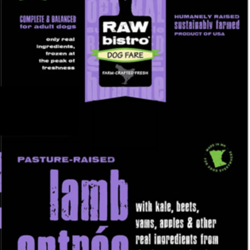 Raw Bistro Frozen Raw Bistro Lamb Entree Small 3#