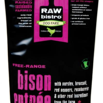 Raw Bistro Frozen Raw Bistro Bison Entree Small 3#