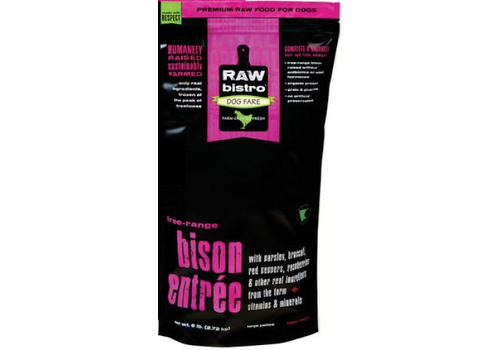 Raw Bistro Frozen Raw Bistro Bison Entree Large 6#