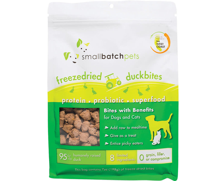 Small Batch Dog Cat Freeze-Dried Small Bites Duck 7oz