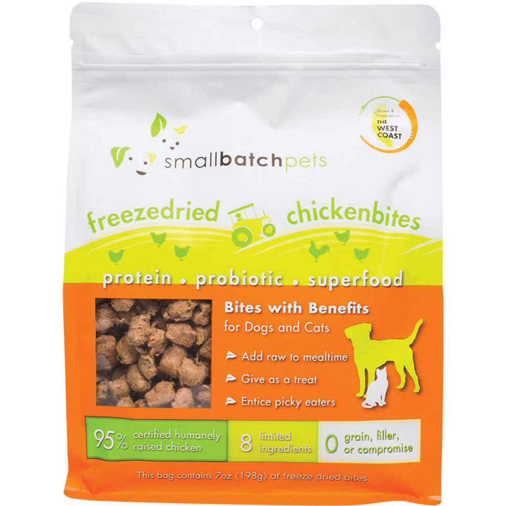 Small Batch Small Batch Cat Dog Freeze-Dried Small Bites Chicken 7oz