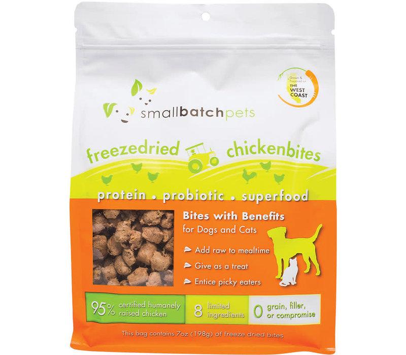 Small Batch Cat Dog Freeze-Dried Small Bites Chicken 7oz