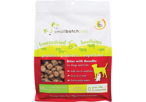 Small Batch Small Batch Dog Cat Freeze-Dried Small Bites Beef 7oz