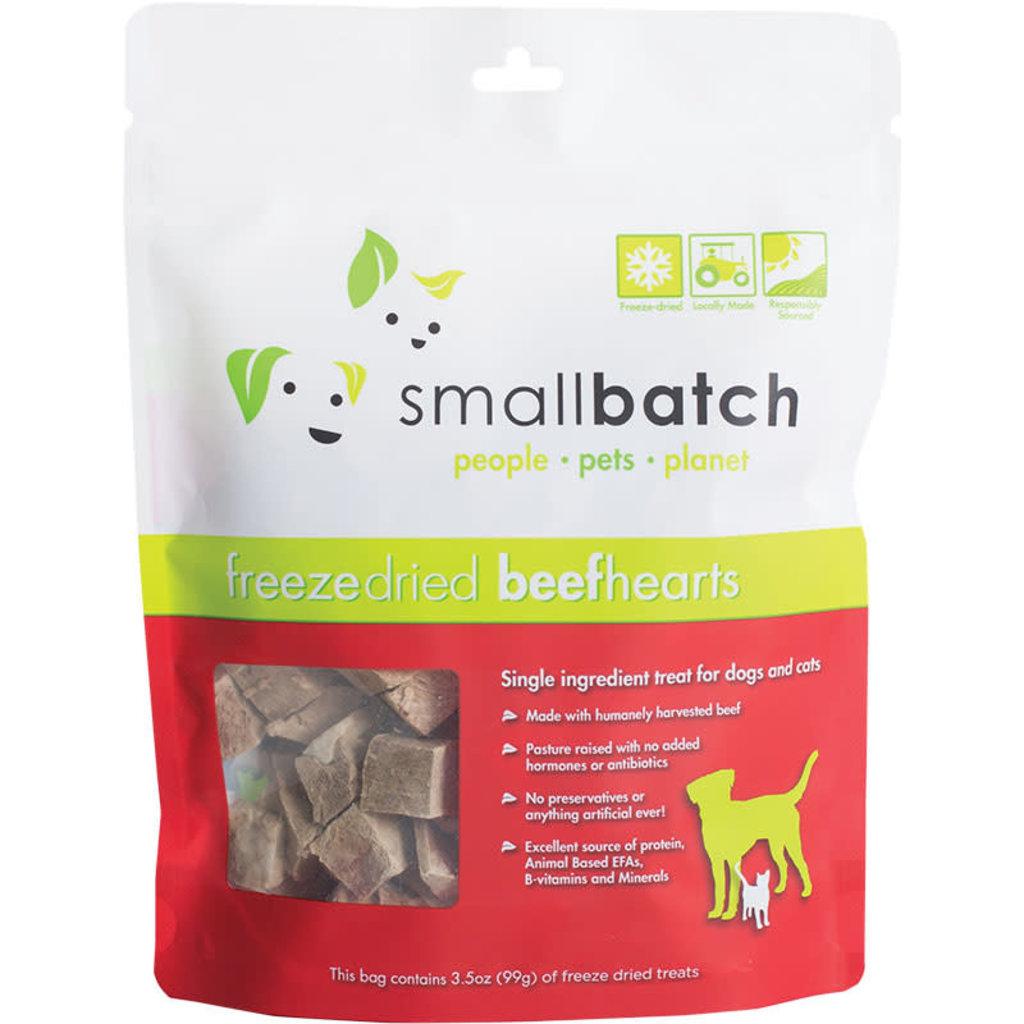 Small Batch Small Batch Dog Cat Freeze-Dried Beef Hearts 3.5oz