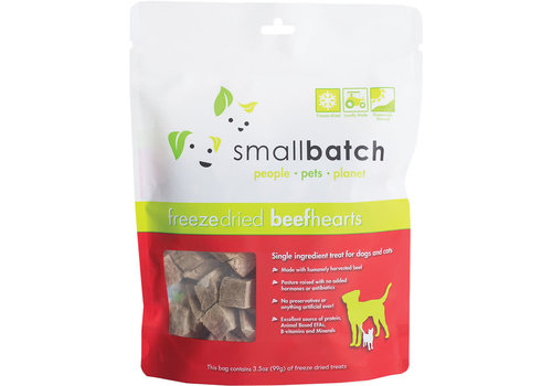 Small Batch Small Batch Dog Cat Freeze-Dried Beef Hearts 3.5oz