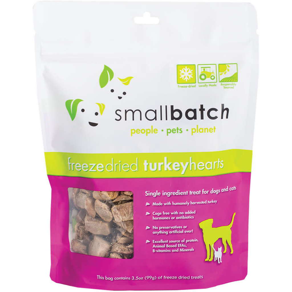 Small Batch Small Batch Dog Cat Freeze-Dried Turkey Hearts 3.5oz