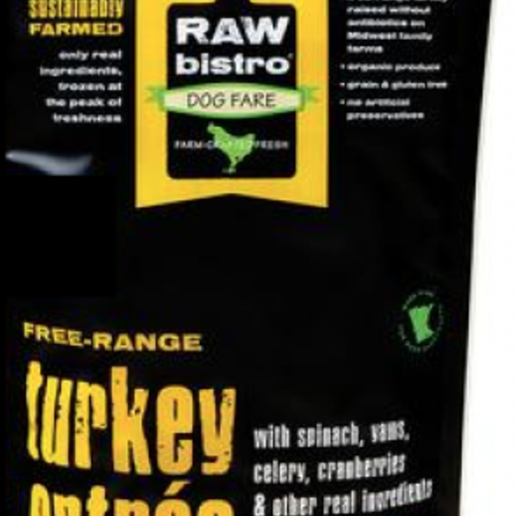 Raw Bistro Frozen Raw Bistro Turkey Entree Large 6#