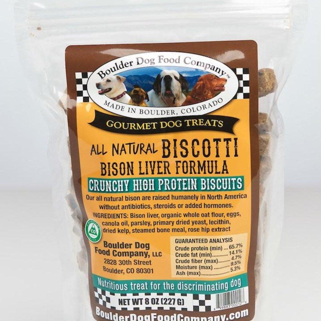 Boulder Dog Food Company Bison Liver Biscotti 8oz