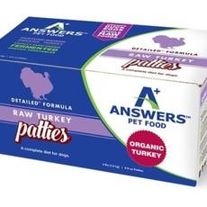 Answers Pet Food Frozen Answers Turkey Patties 4lbs