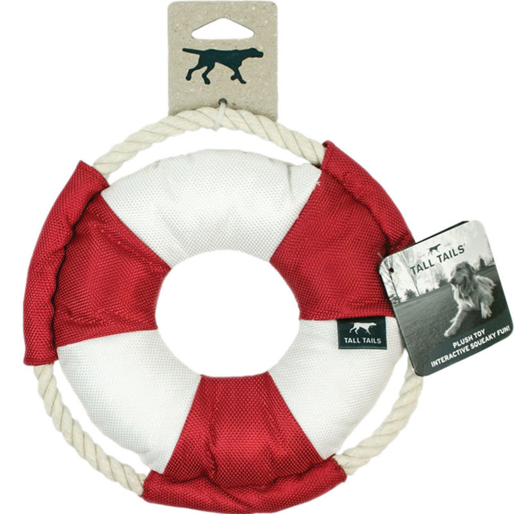Tall Tails Tall Tails Dog Squeaker Life Buoy 8 inches