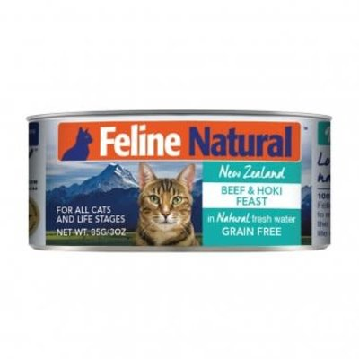 K9 Natural Feline Natural Grain Free Beef and Hoki Feast Canned Cat Food 3oz