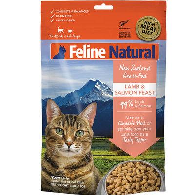 K9 Natural Feline Natural Grain Free Lamb and King Salmon Feast Freeze Dried Cat Food 3.5oz
