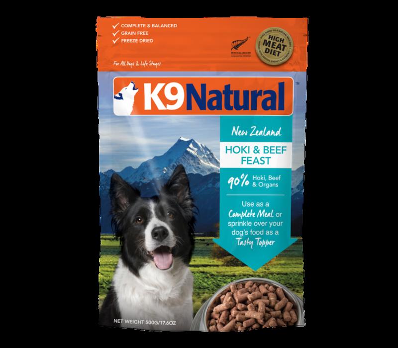 K9 Natural Freeze Dried Hoki Beef 17.6oz