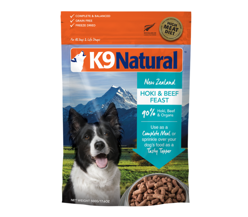 K9 Natural Freeze Dried Hoki Beef 4lbs