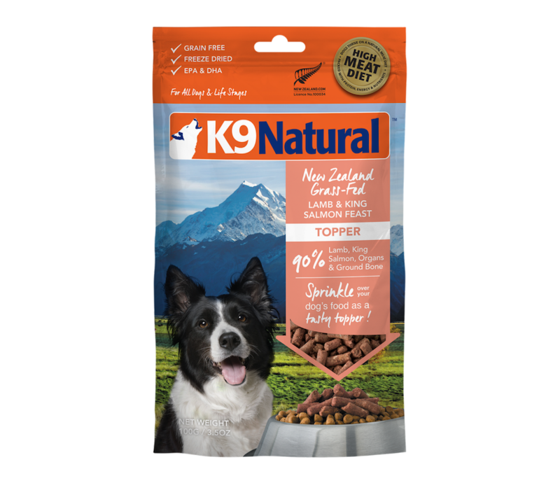 K9 Natural Freeze Dried Topper Lamb Salmon 3.5oz