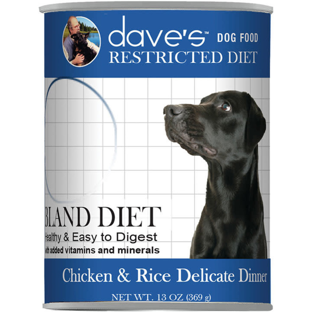 Dave's Pet Food Dave's Dog Restricted Bland Chicken 13.2oz