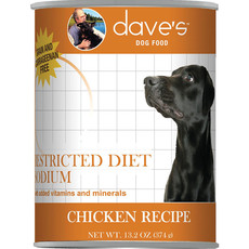 Dave's Pet Food Dave's Pet Food Dog Restricted Diet Low Sodium Chicken 13oz