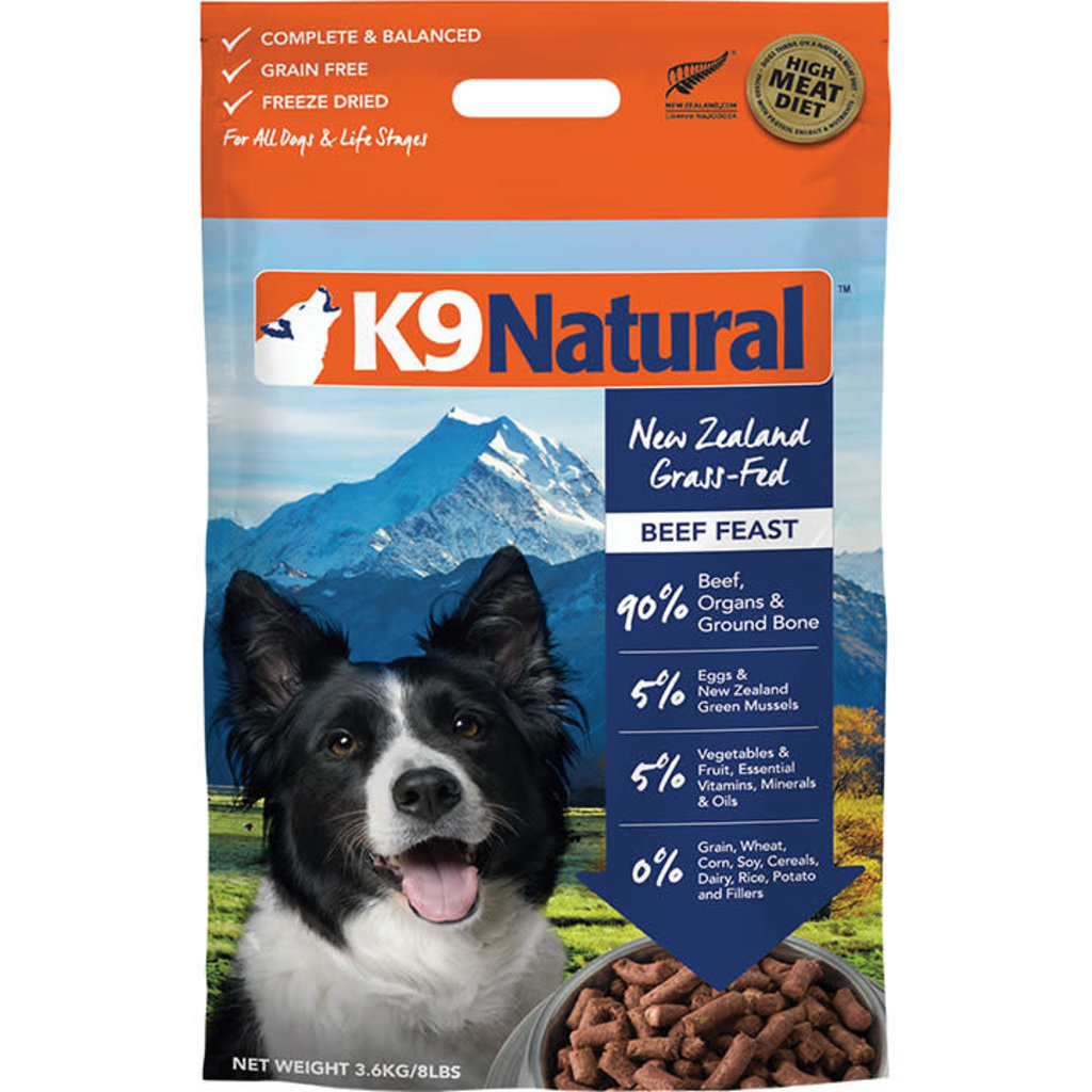 K9 Natural K9 Natural Freeze Dried Beef 8lbs