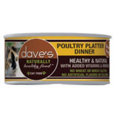 Dave's Pet Food Dave's Cat Poultry Platter 5.5oz