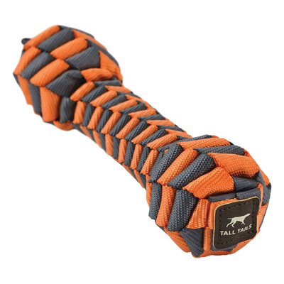 Tall Tails Tall Tails Dog Braided Bone Orange 7 inches