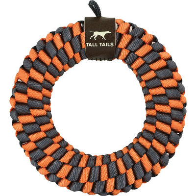 Tall Tails Tall Tails Dog Braided Ring Orange 5 Inches