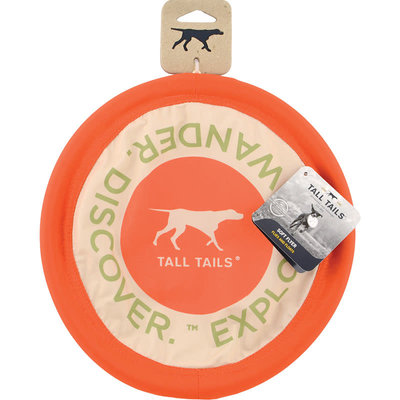 Tall Tails Tall Tails Dog Flying Disc Orange 10 inches