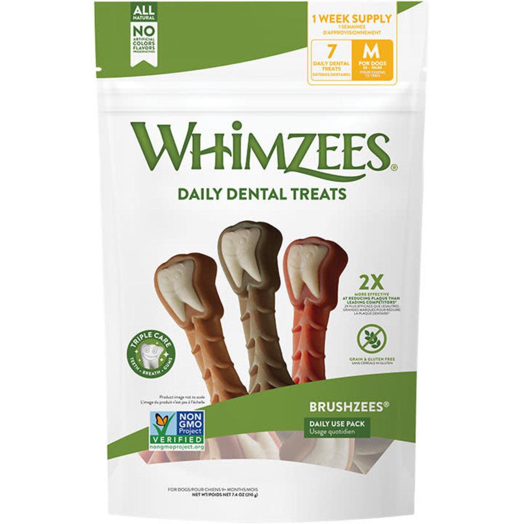 Whimzees Brushzees Daily Pack Medium