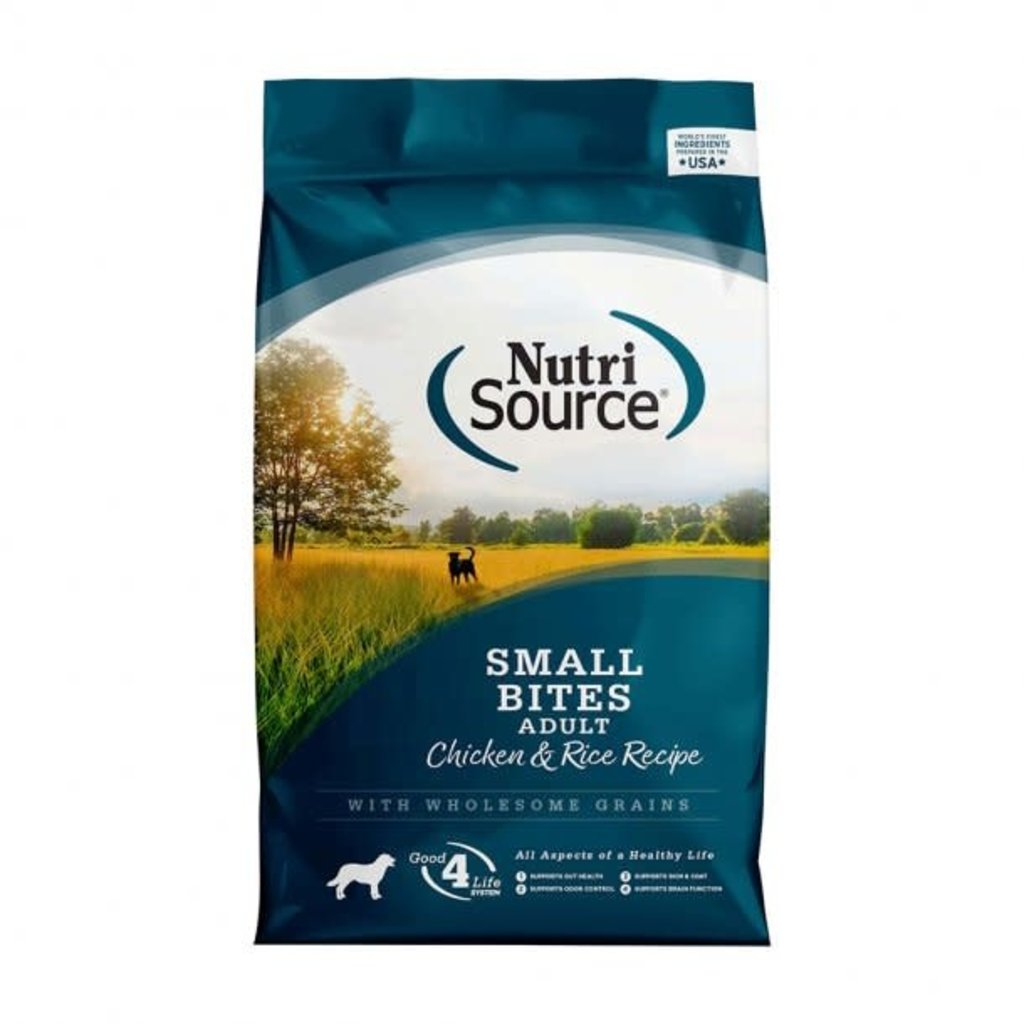 NutriSource Chicken and Rice Small Bite Adult Dog Food 15lb