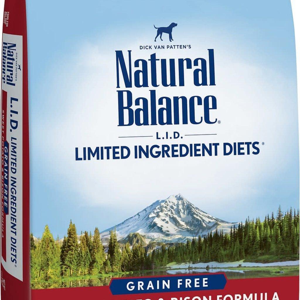 Natural Balance Natural Balance NB Grain Free Sweet Potato & Bison Formula 26lbs