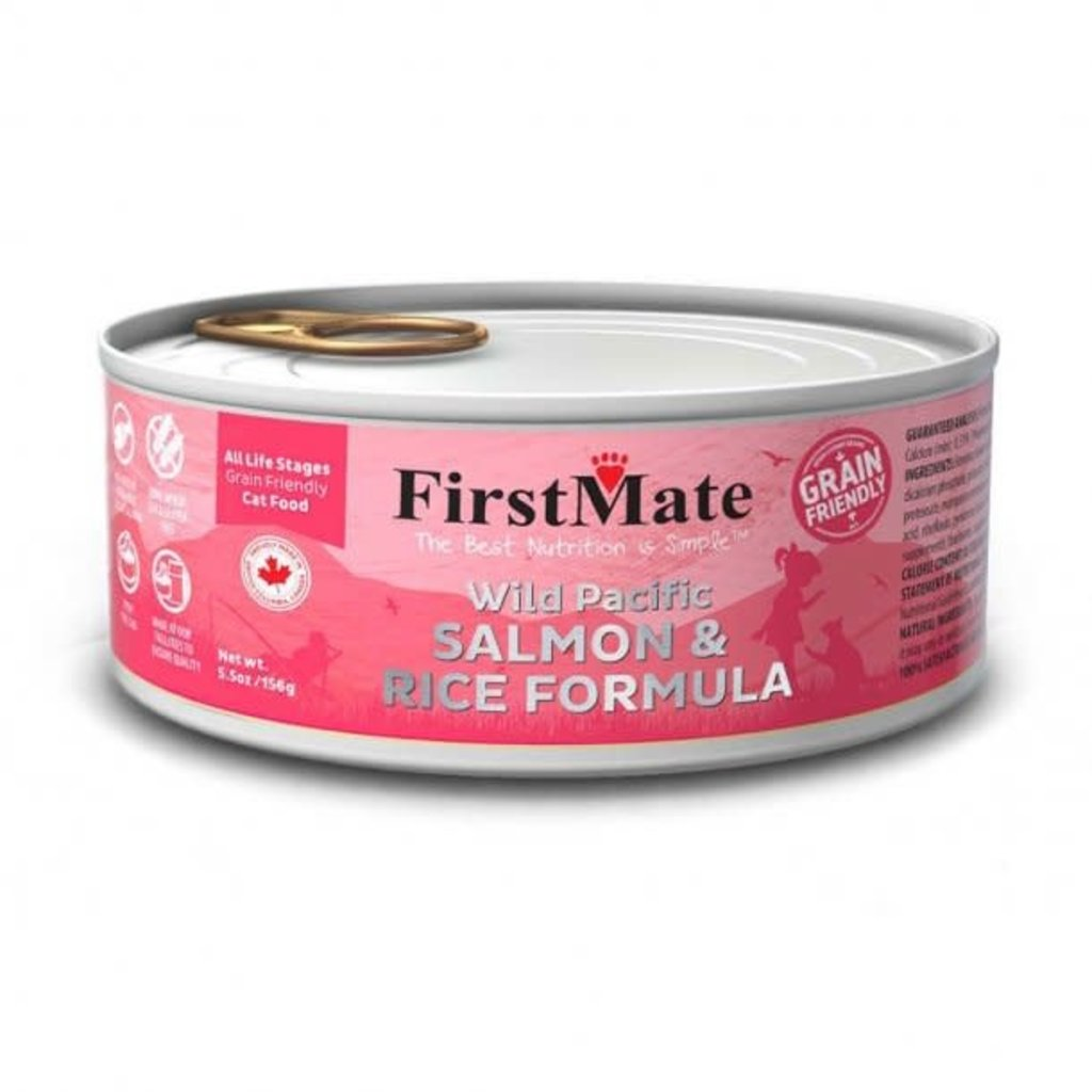First Mate First Mate Grain Friendly Wild Pacific Salmon & Rice Formula Cat Food 5.5 Oz
