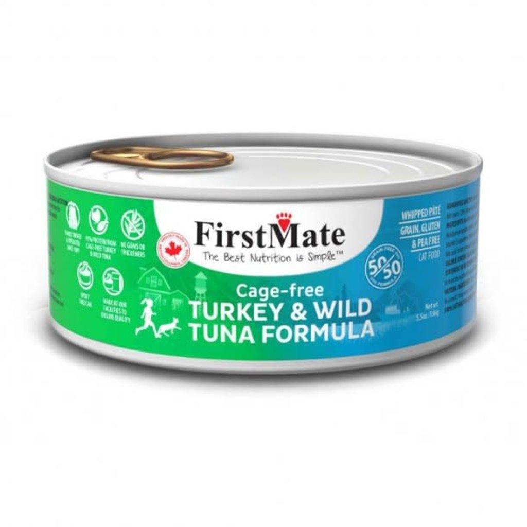 First Mate 50/50 Cage Free Turkey & Wild Tuna Formula Cat Food 5.5 Oz