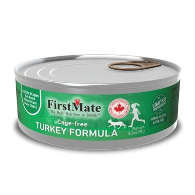 First Mate First Mate Limited Ingredient Diet Turkey Can Cat Food 3.2 Oz