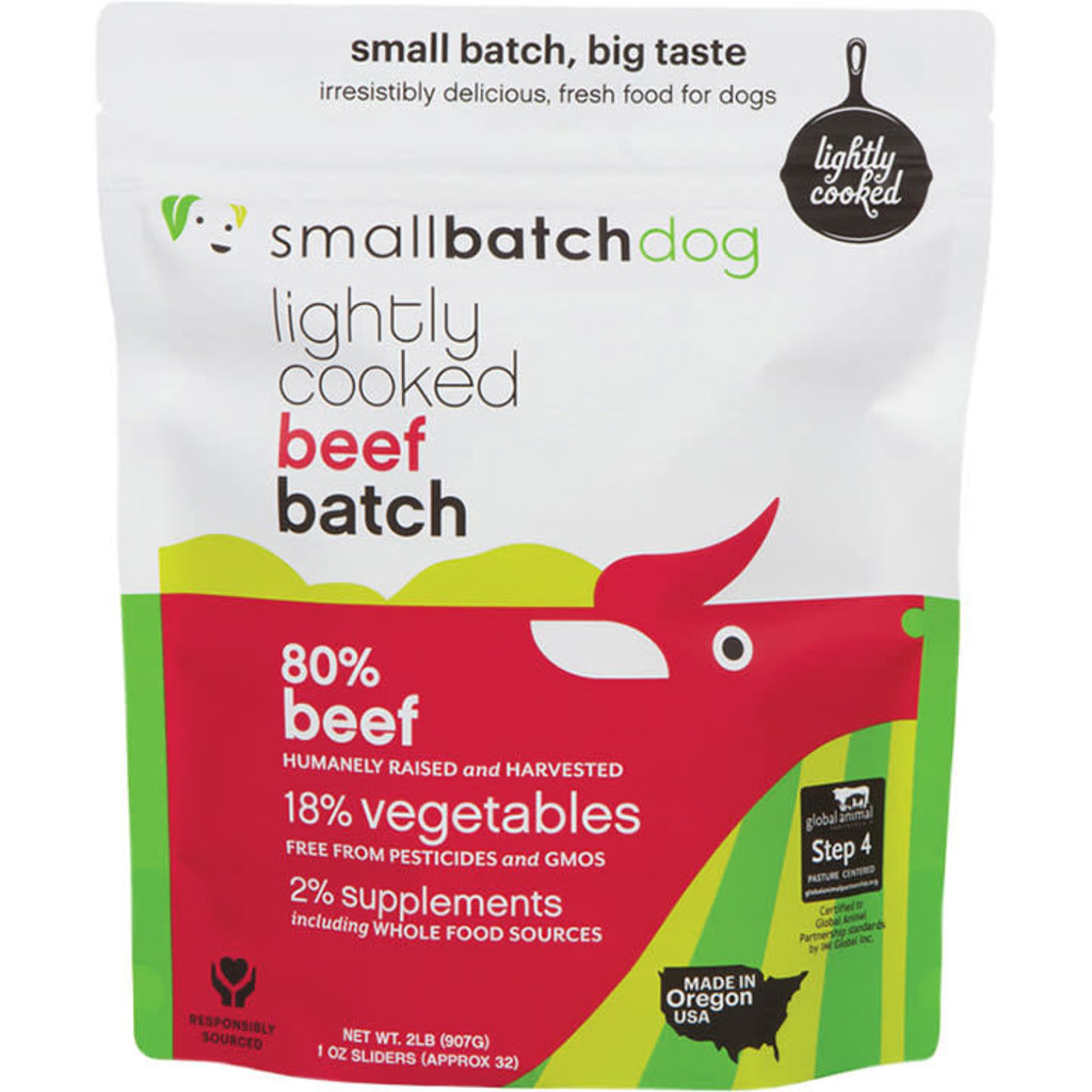 Small Batch Dog Frozen Lightly Cooked Beef 2lbs