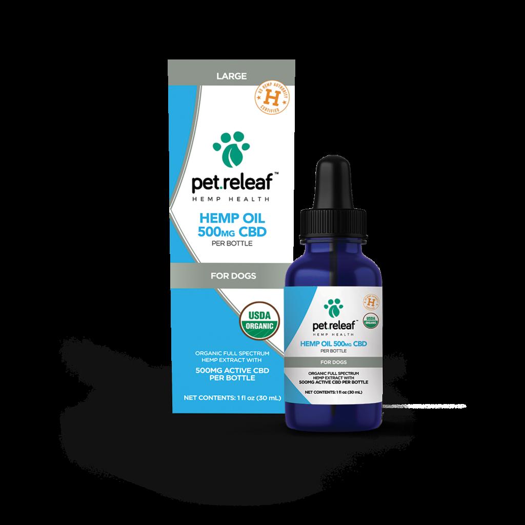 Pet Releaf Organic 500mg CBD Hemp Oil
