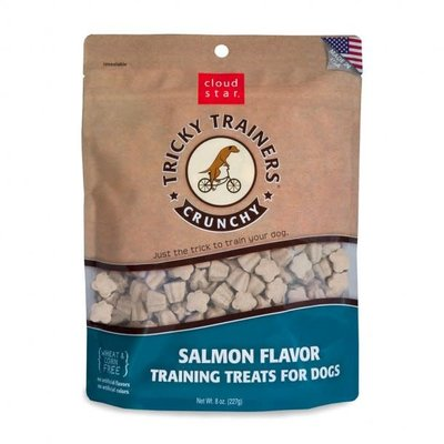 Cloud Star Cloud Star Tricky Trainers Salmon Flavored Crunchy Training Dog Treats 8oz