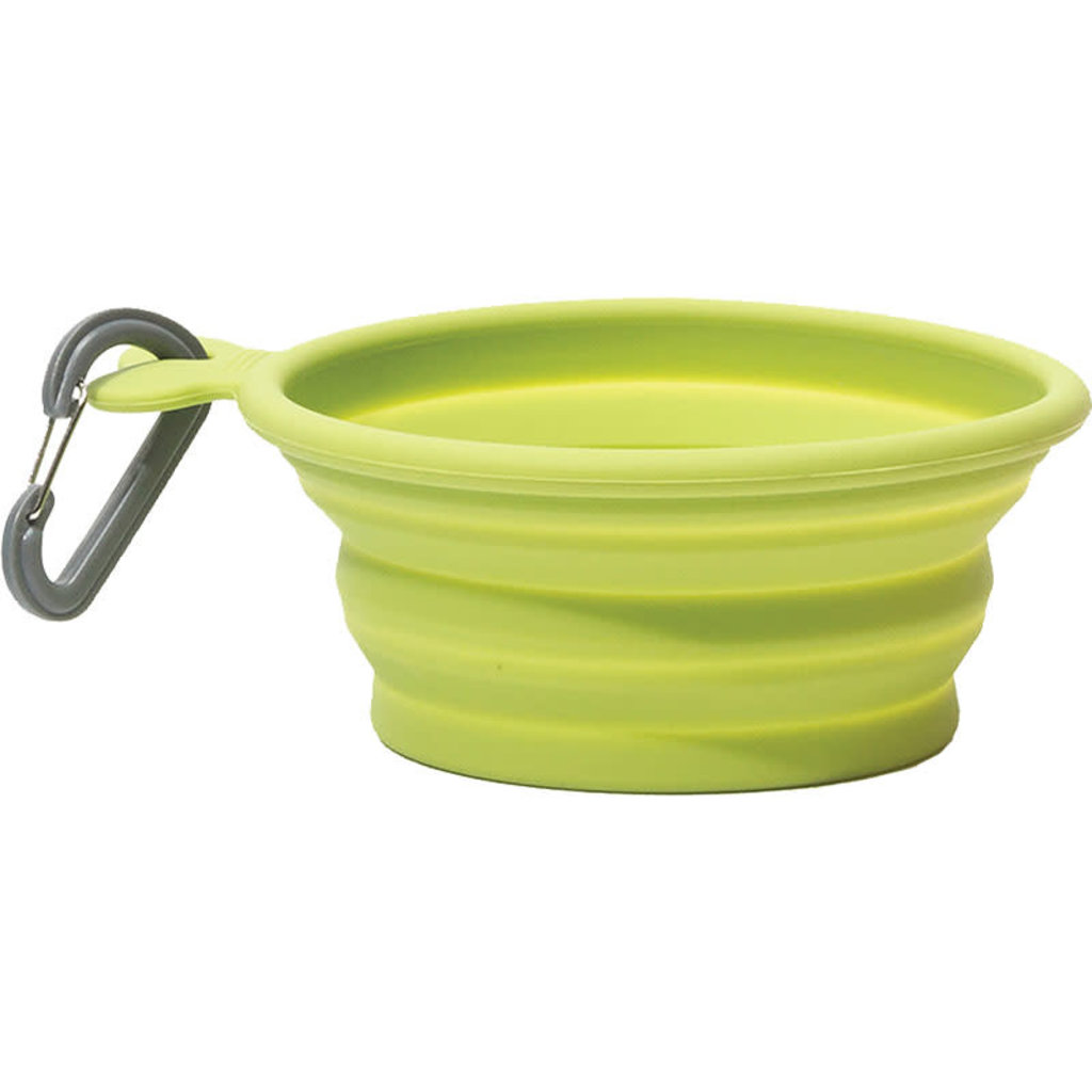 Messy Mutts Dog Collapsible Bowl Green 3 Cups