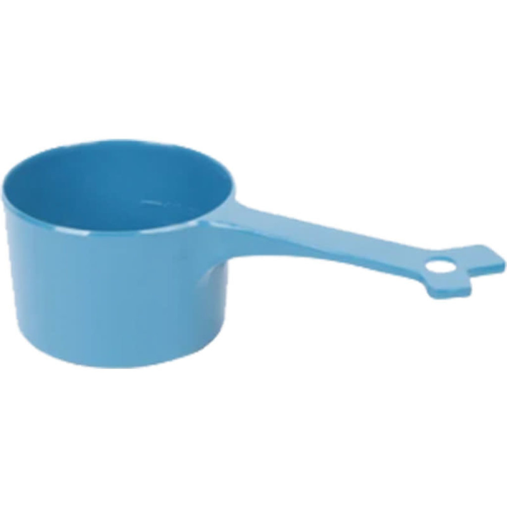 Messy Mutts Dog Cat Food Scoop 1 Cup Blue