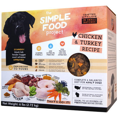 Simple Food Project Simple Food Project Dog Chicken & Turkey Recipe 96oz 6lbs
