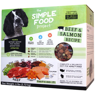 Simple Food Project Simple Food Project Dog Beef & Salmon Recipe 96oz 6lbs