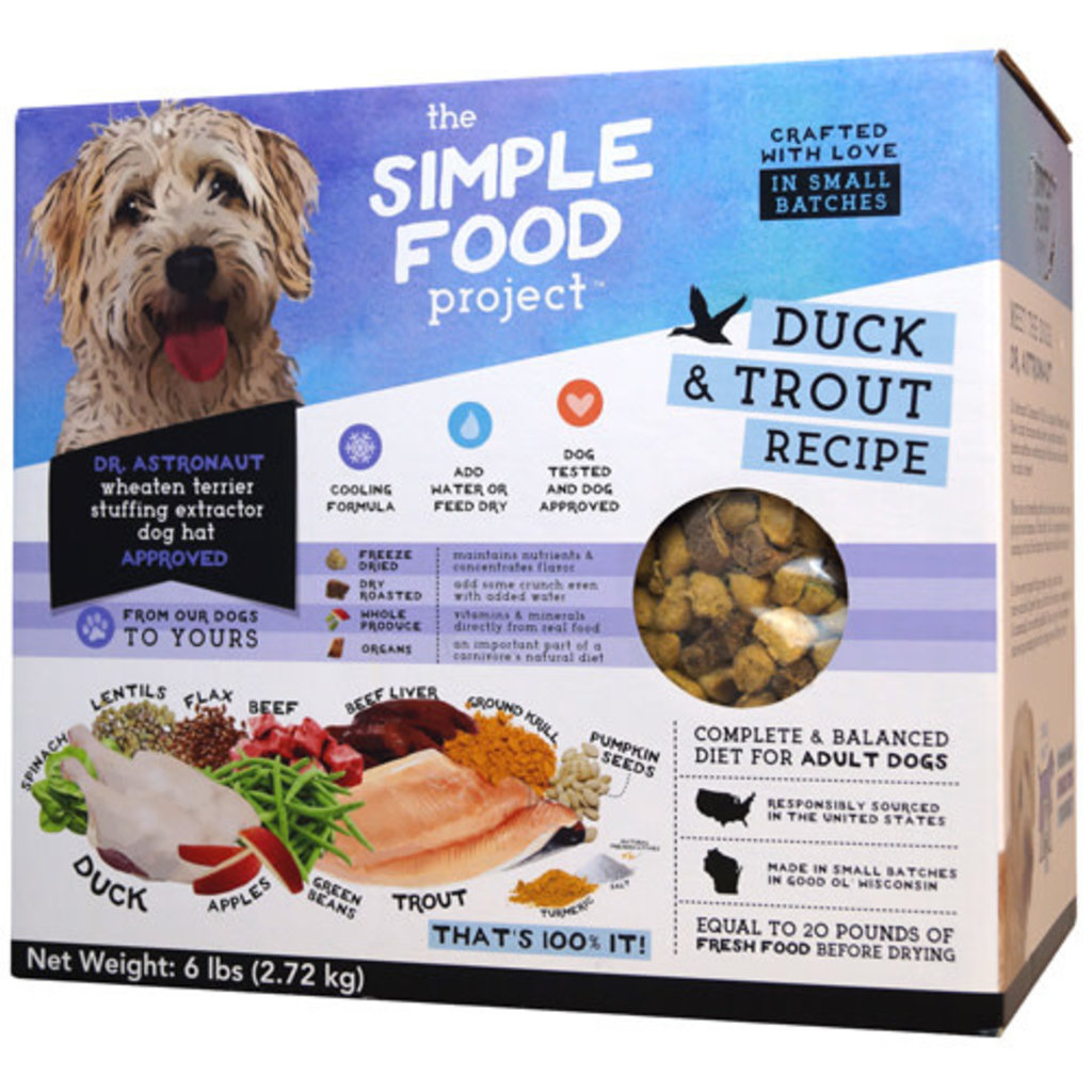 Simple Food Project Simple Food Project Dog Duck & Trout Recipe 96 6lbs