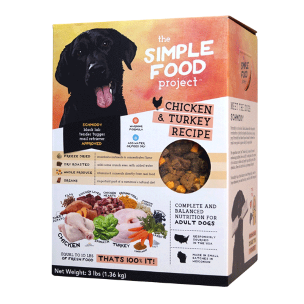 Simple Food Project Simple Food Project Dog Chicken & Turkey Recipe 48oz 3lbs