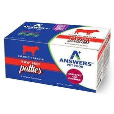 Answers Pet Food Frozen Answers Detailed Beef 8oz Patties 4lbs