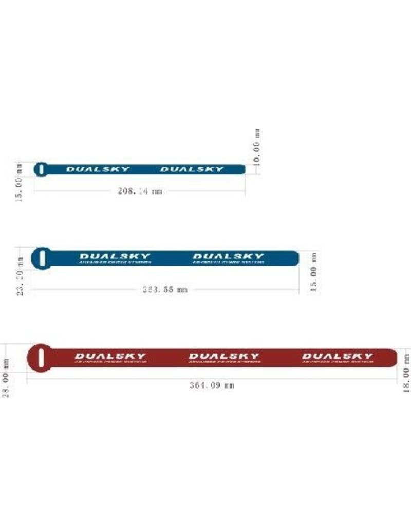 Dualsky Dualsky Battery Straps, Medium, 5 pce, L=263mm